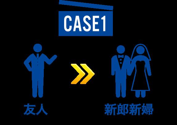 CASE-01:友人→新郎新婦