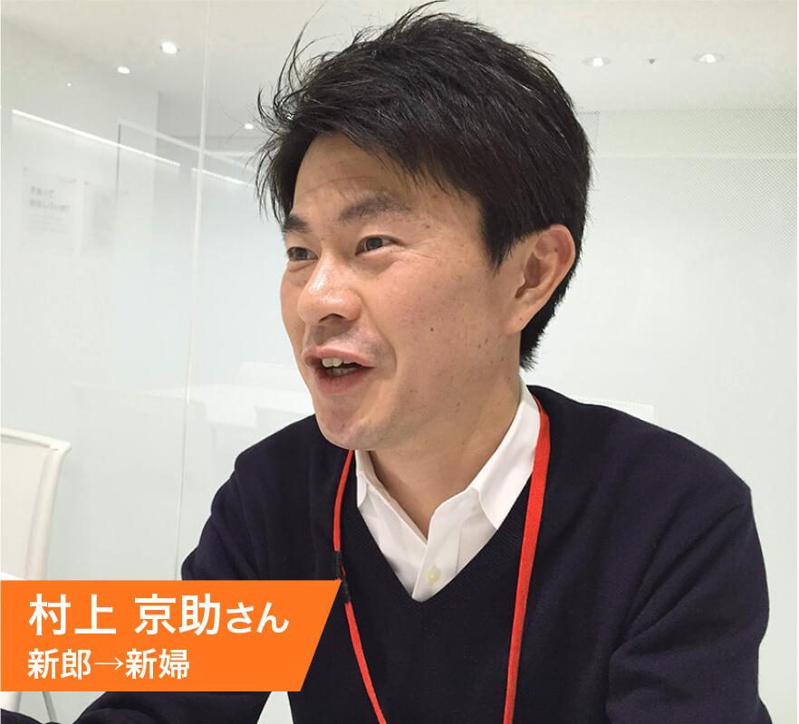 村上 京助さん(新郎→新婦)